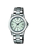 Casio Sheen Ladies' Ceramic Stainless Steel Bracelet Watch