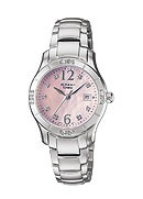 Casio Sheen Ladies' Pink Mother of Pearl Dial Bracelet Watch