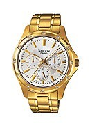 Casio Sheen Ladies' Stone Set Gold Plated Bracelet Watch