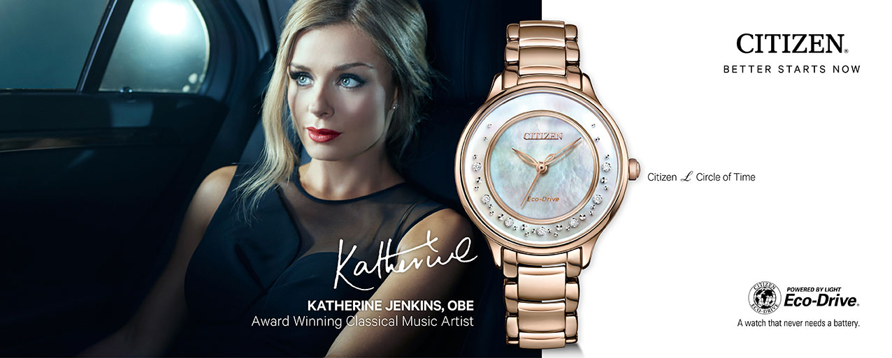 Citizen Circle of time advertised by Katherine Jenkins