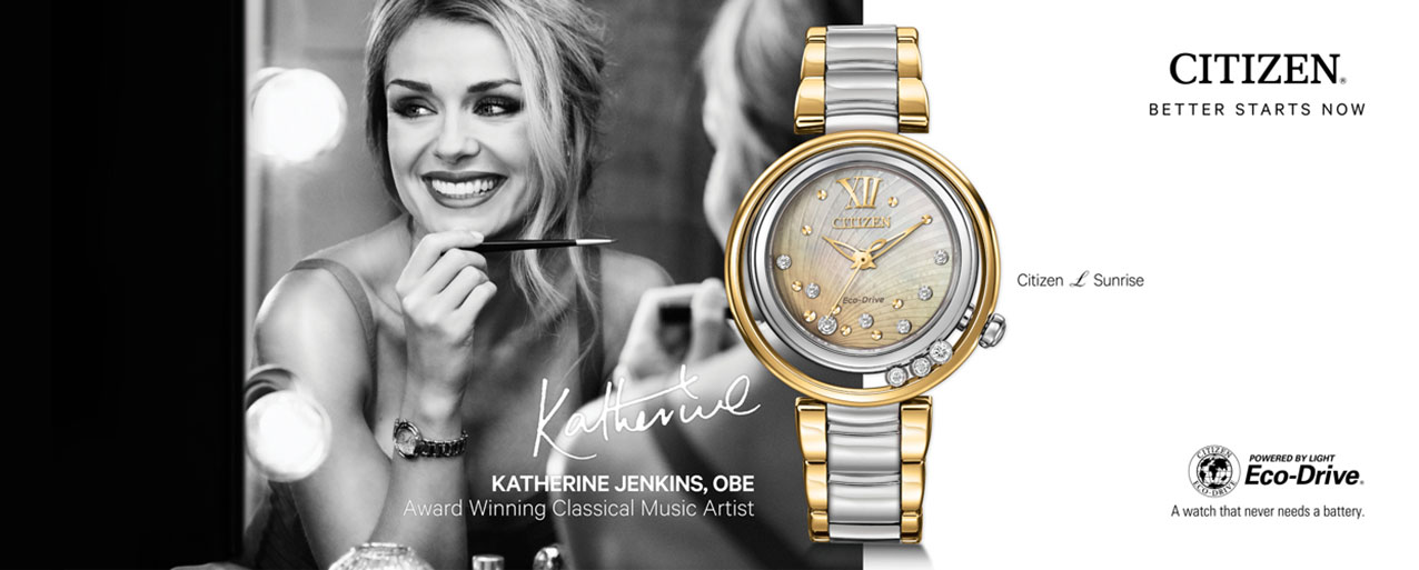 Citizen L Sunrise advertised by Katherine Jenkins