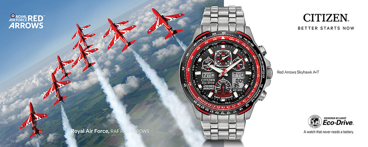 Citizen watches in association with the Red Arrows