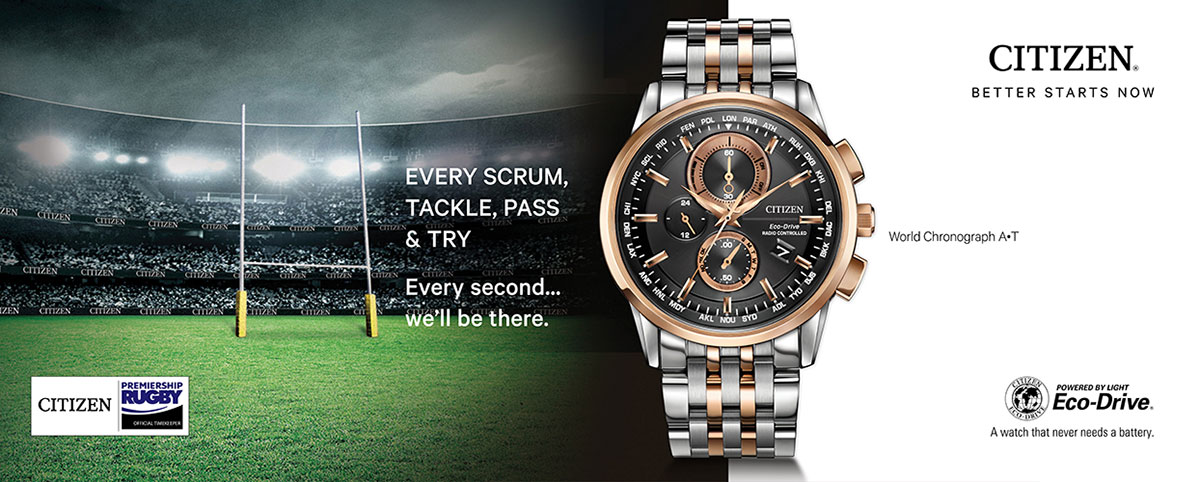 Official Timekeeper of Premiership Rugby