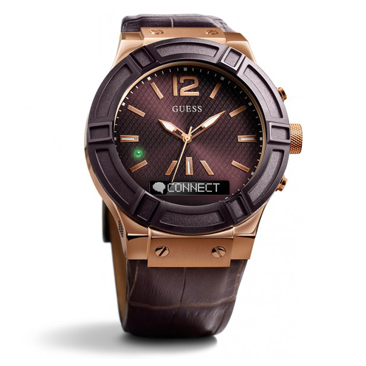Guess Connect Brown & Rose Gold 45mm Smartwatch