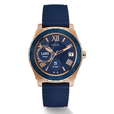 Guess Connect Blue & Rose Gold 45mm Smartwatch