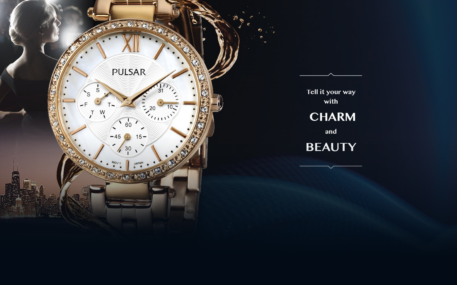 Pulsar Ladies - Tell it your way with charm and beauty