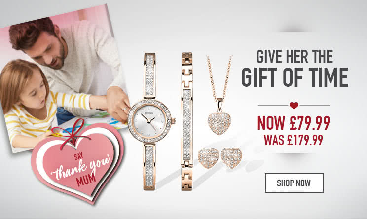 Give her the gift of time - Shop now