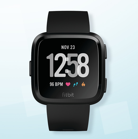 Fitbit Versa Black Strap Smart Watch - Shop Now