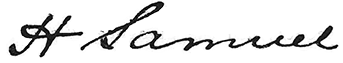 Harriet Samuel signature