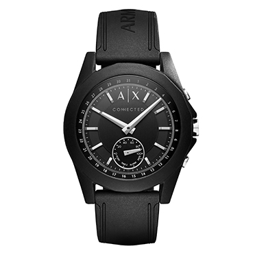 Armani Exchange Connected - Black Silicone Smartwatch