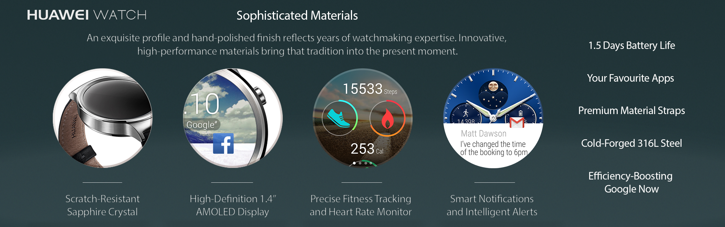 Huawei Smartwatches features